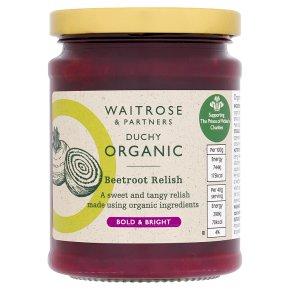 Waitrose Duchy Organic beetroot relish