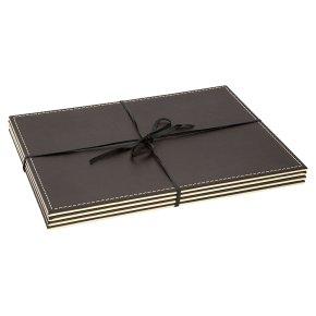 Waitrose reversible leather placemats, set of 4