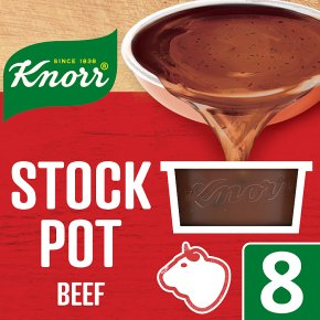 Knorr beef 8 pack stock pot