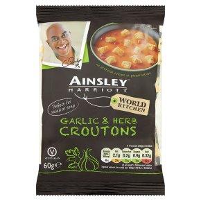 Ainsley Harriott soup croutons garlic & herbs
