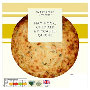 Waitrose Ham Hock, Cheddar & Piccalilli Quiche