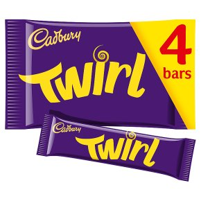 Cadbury Twirl chocolate bar 4 x 34g