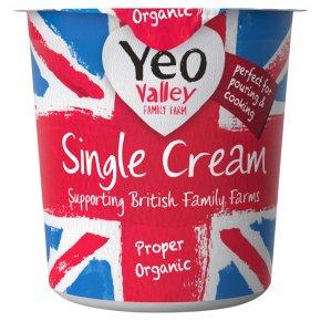 Yeo Valley organic single cream