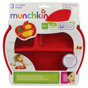 Munchkin Lil' Apple Plates