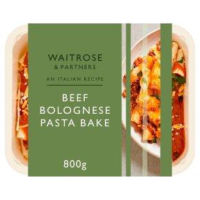 Waitrose Italian Beef Bolognese Pasta Bake