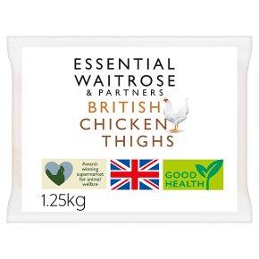 essential Waitrose Frozen British chicken thighs
