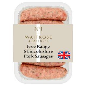 Waitrose No1 6 Lincolnshire sausages
