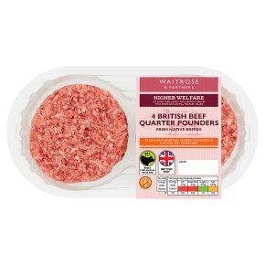 Waitrose 4 Aberdeen Angus Beef Quarterpounders