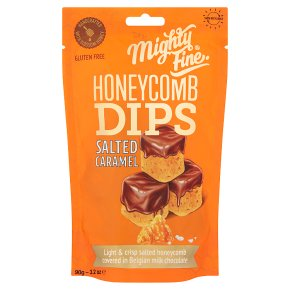Mighty Fine Salted Caramel Honeycomb Dips