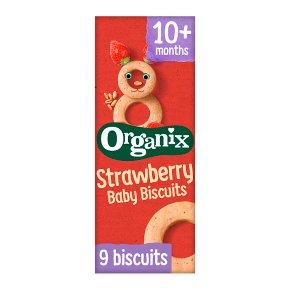 Organix strawberry baby biscuits