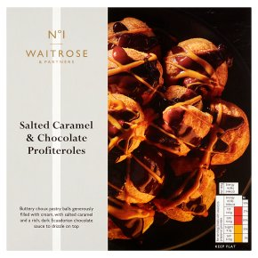 No.1 Salted Caramel and Dark Chocolate Profiteroles