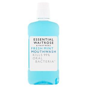 essential Waitrose fresh mint mouthwash