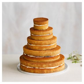 Naked 5 tier Wedding Cake, vanilla sponge (5 tiers)