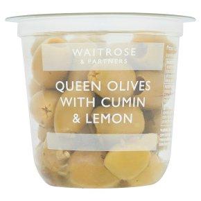 Waitrose Queen Green Olives with Cumin & Lemon