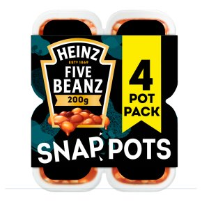 Heinz Five Beanz snap pots