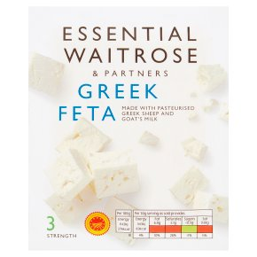 essential Waitrose Greek Feta cheese, strength 3