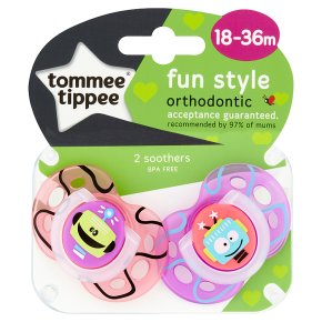 Tommee Tippee Fun Soothers 18-36m