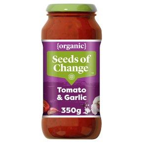 Seeds of Change organic tomato & garlic pasta sauce