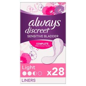Always Discreet Sensitive Bladders Light