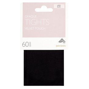 John Lewis 60 denier black soft & smooth tights (small)