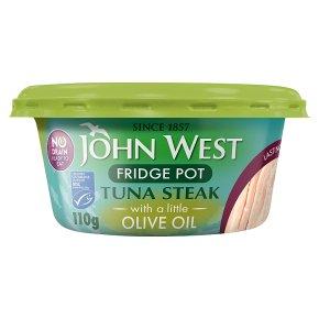 John West MSC No Drain Tuna Steak in Olive Oil