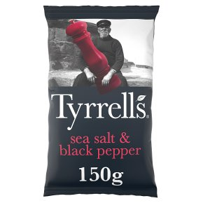 Tyrrells sea salt & black pepper potato chips