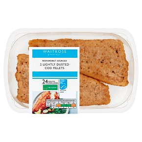 Waitrose Lightly Dusted Cod