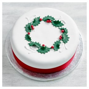 Fiona Cairns Richly Fruited Holly Cake