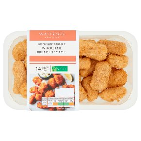 Waitrose Wholetail Breaded Scampi