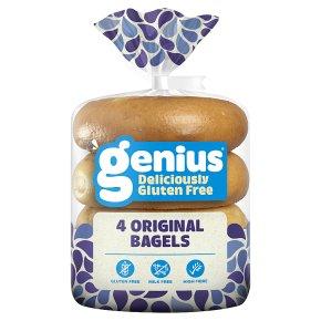 Genius Gluten Free Plain Bagels