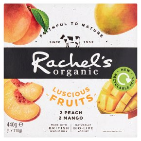 Rachel's luscious fruits peach & mango
