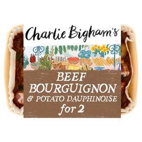 Charlie Bigham's beef bourguignon & dauphinoise potatoes
