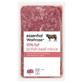 essential Waitrose British Beef Mince 10% Fat