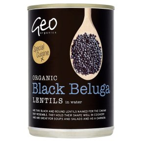 Geo Organics Black Beluga Lentils in Water