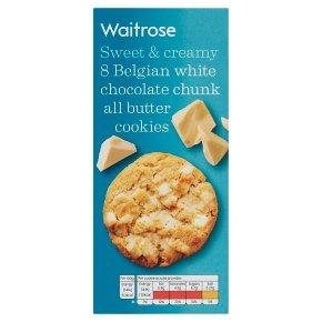 Waitrose 8 Belgian White Chocolate Cookies