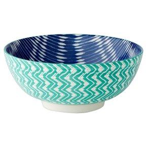 Waitrose Fusion Large Teal Bowl