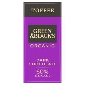Green & Black's organic burnt toffee dark chocolate bar