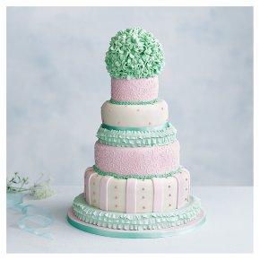 Tallulah 5 tier  Wedding Cake, Fruit (Base tier) & Golden Sponge (4 tiers)