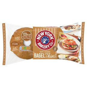New York Bakery Co. Soft Seeded Bagel Thins