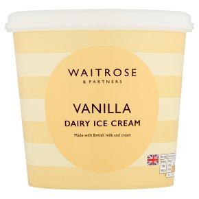 Waitrose vanilla dairy ice cream