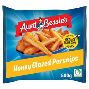 Aunt Bessie's honey glazed roasted parsnips