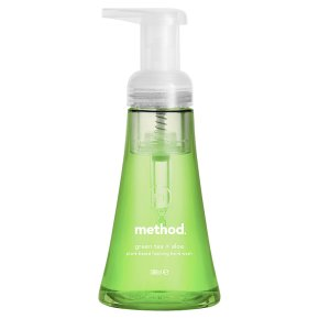 Method foaming hand wash green tea+aloe