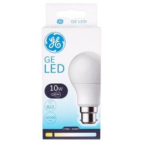 GE LED Round Bulb 10W B22 BC 810L