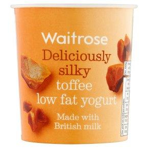 Waitrose deliciously silky toffee low fat yogurt
