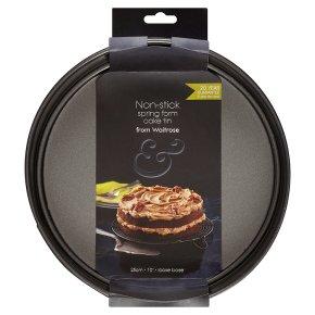 from Waitrose 25cm (10) non-stick loose base spring form cake tin