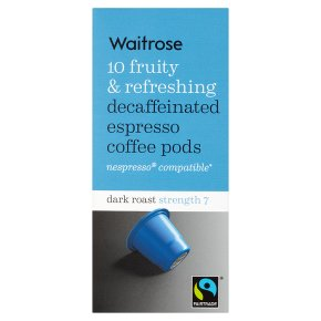 Waitrose Espresso Coffee Pods Decaffeinated