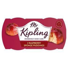 Mr Kipling 2 Raspberry Sponge Puddings
