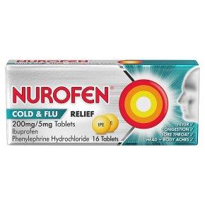 Nurofen 16 cold & flu relief tablets