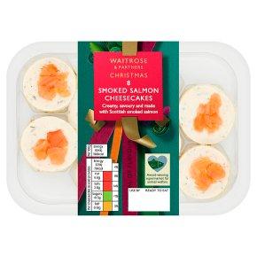 Waitrose Christmas 8 Smoked Salmon Cheesecakes