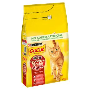 Go-Cat Crunchy and Tender Dry Cat Food Beef